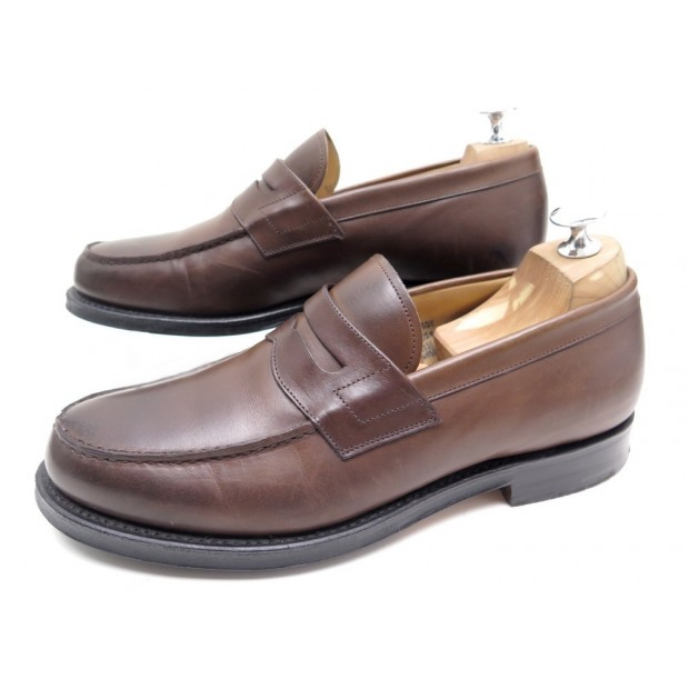 CHAUSSURES CHURCH'S WESLEY MOCASSINS 7.5G 41.5 LARGE 42 CUIR MARRON LOAFERS 520€