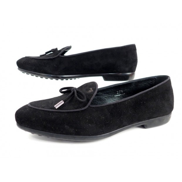 NEUF CHAUSSURES MOCASSINS TOD'S PRANCY LACCETTO 35.5 IT 36.5 FR DAIM SHOES 288€