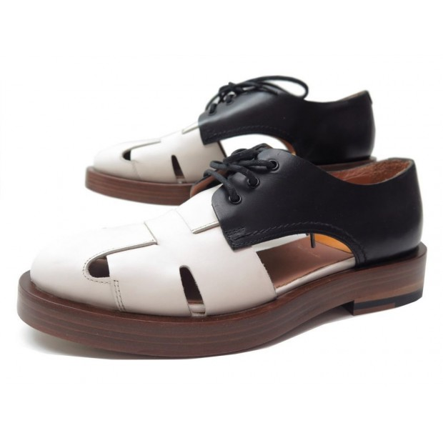 NEUF CHAUSSURES PAUL SMITH CYRIL 36 CUIR BICOLORE