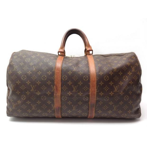 8bd1f3232 VINTAGE SAC DE VOYAGE A MAIN LOUIS VUITTON KEEPALL 55 MONOGRAM