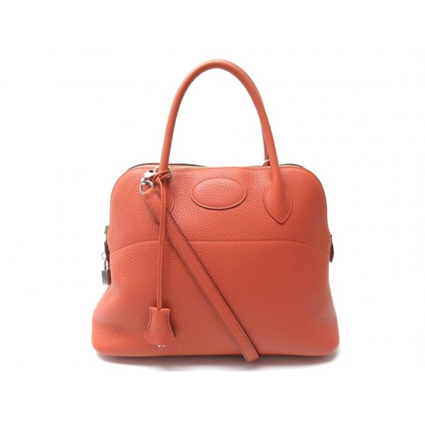 NEUF SAC A MAIN HERMES BOLIDE 31 BANDOULIERE EN CUIR CLEMENCE ORANGE PURSE 5650€