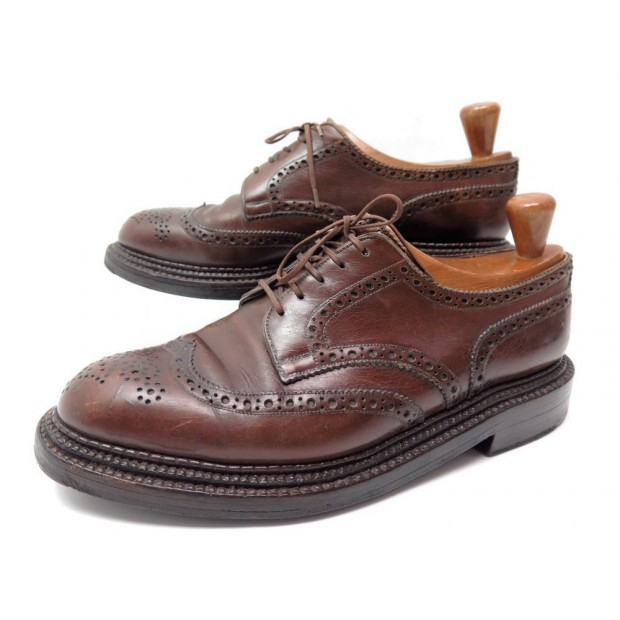 CHAUSSURES JM WESTON 590 6D 40 40.5 DERBY TRIPLE SEMELLES EN CUIR MARRON 1010€
