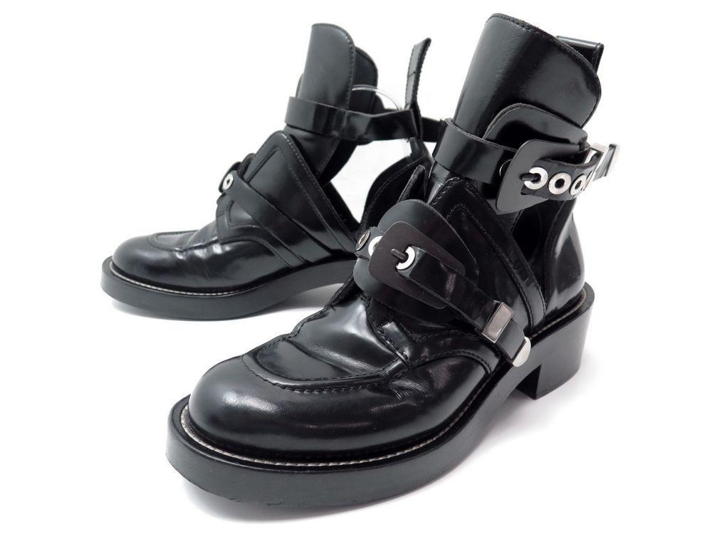 chaussures balenciaga buckle boots 40