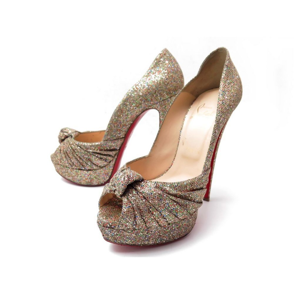 taille 40 9fbe8 16ace chaussures christian louboutin jenny pump 150 glitter
