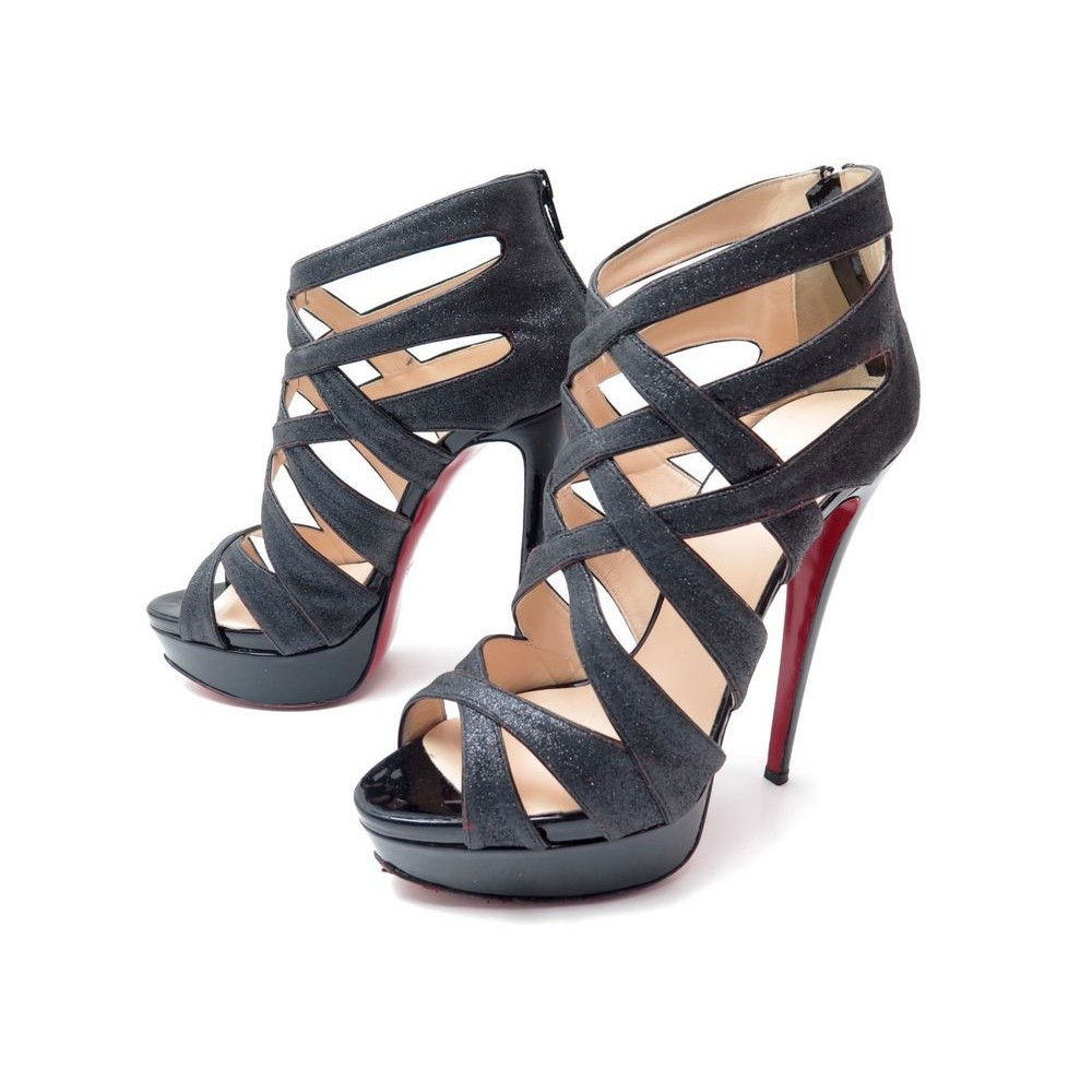 regard détaillé a7ad1 66a85 chaussures christian louboutin balota glitter 150