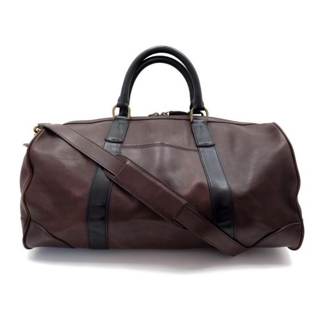 6c9b500c64bd sac de voyage a main ralph lauren 30 cm en cuir marron