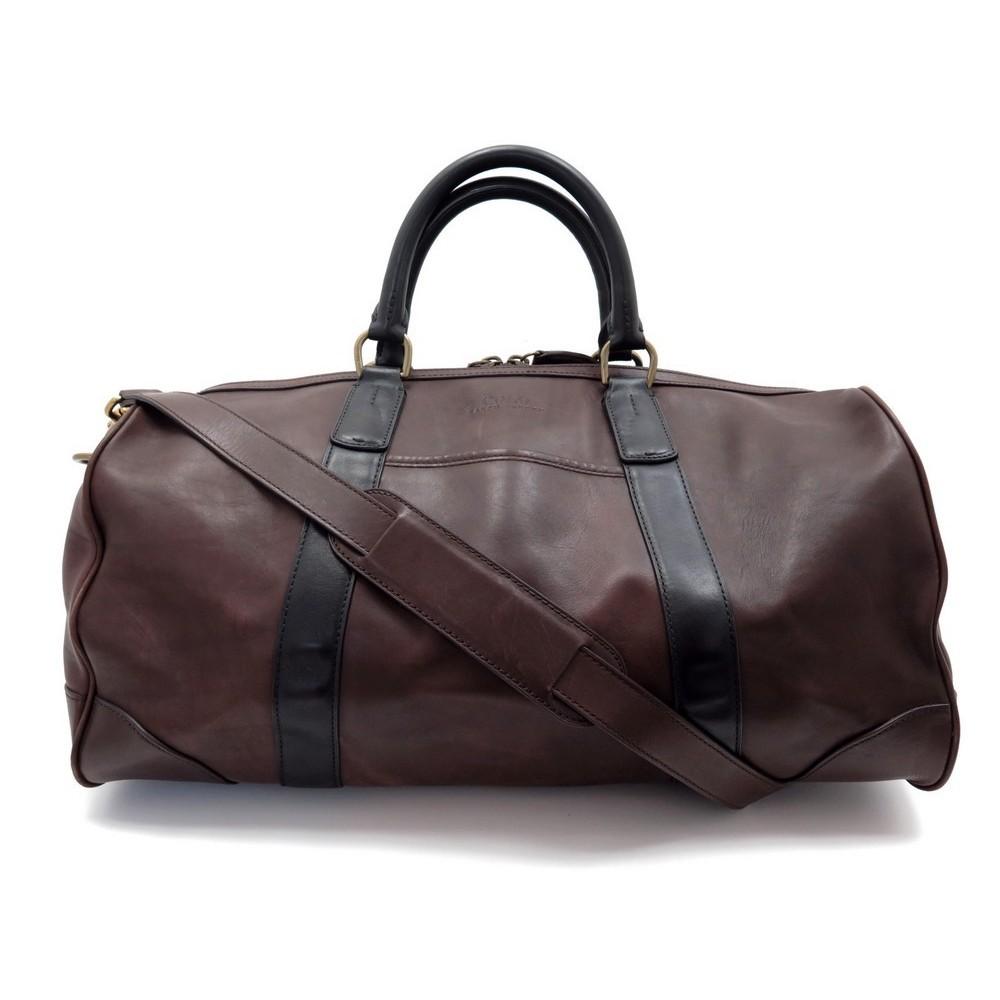2900dba1ec3 sac de voyage a main ralph lauren 30 cm en cuir marron