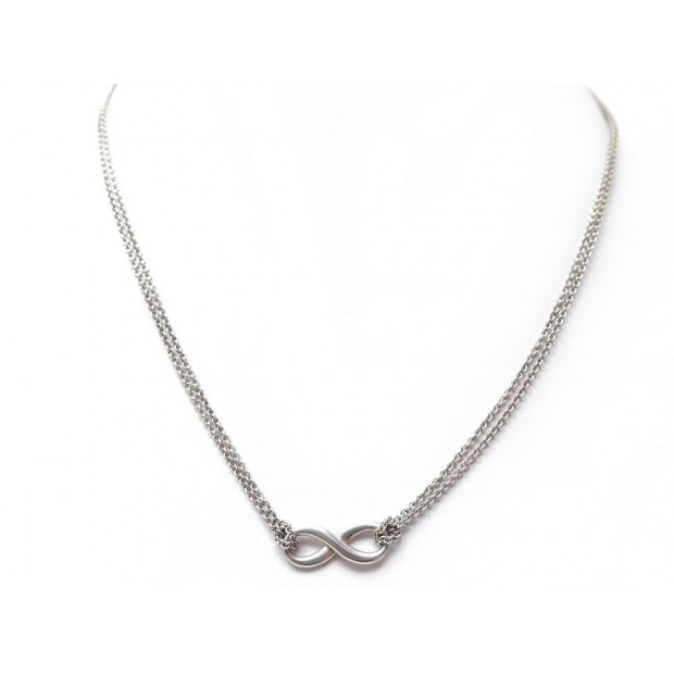 COLLIER PENDENTIF TIFFANY & CO INFINITY EN ARGENT MASSIF 925 6.5GR NECKLACE 280€