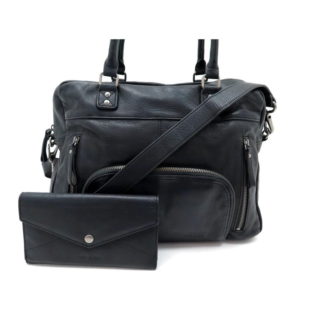 nouvelle collection chaussures de séparation style classique de 2019 sac a main nat nin macy bandouliere en cuir noir