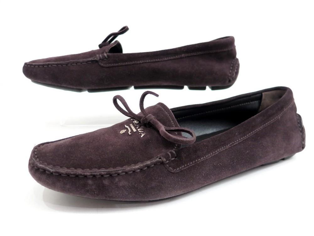 plus de photos 6e370 31c49 chaussures prada mocassins 39 femme en veau velours