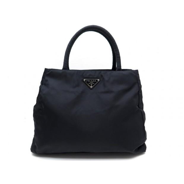design de qualité 22fa1 2dd8b sac a main prada en nylon noir cabas classique canvas
