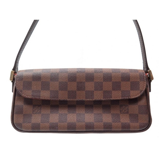 NEUF SAC A MAIN LOUIS VUITTON RECOLETA 26 CM TOILE DAMIER EBENE BAG PURSE 570€