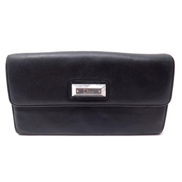 taille 40 nouveau style et luxe bons plans 2017 portefeuille christian dior cuir noir porte monnaie