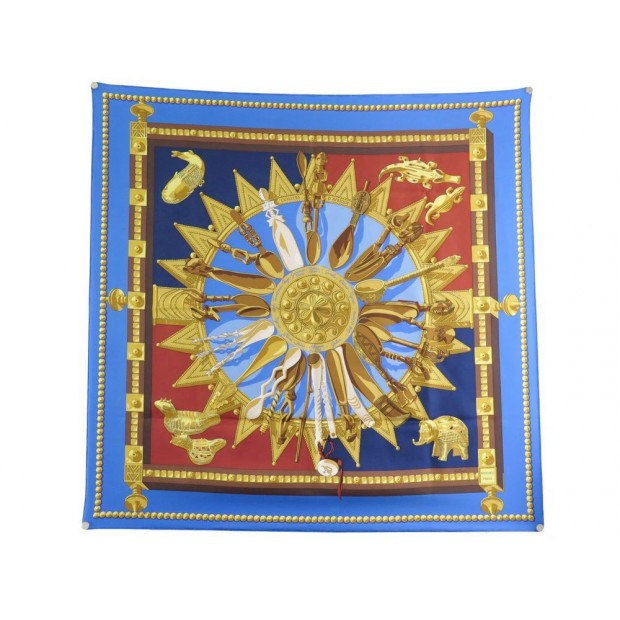 NEUF FOULARD HERMES CUILLERS D'AFRIQUE CATHY LATHAM CARRE SOIE SILK SCARF 360€