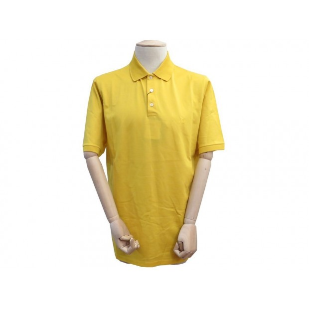 NEUF POLO LOUIS VUITTON JR32 4L XXL 60 62 COTON JAUNE TSHIRT YELLOW SHIRT 390€