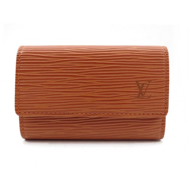 NEUF PORTE CLE LOUIS VUITTON MULTICLES 6 CUIR EPI MARRON LEATHER KEY RING 210€