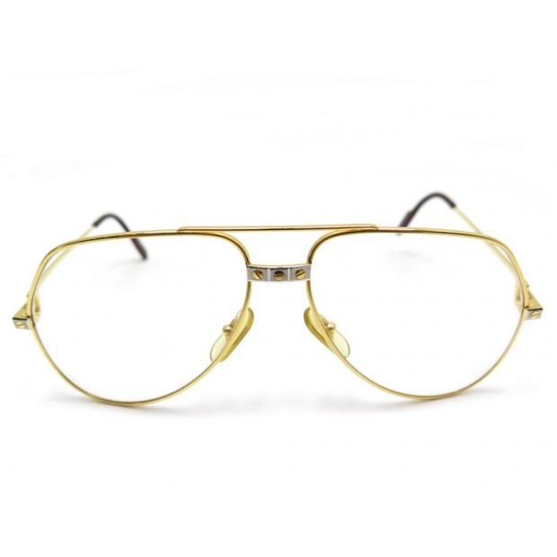 e22215017db monture lunettes de soleil cartier santos plaque