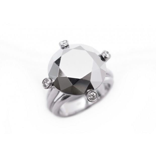 BAGUE CHOPARD GOLDEN DIAMONDS PIERRE CHROME OR BLANC 14 GR DIAMANTS RING 7710€