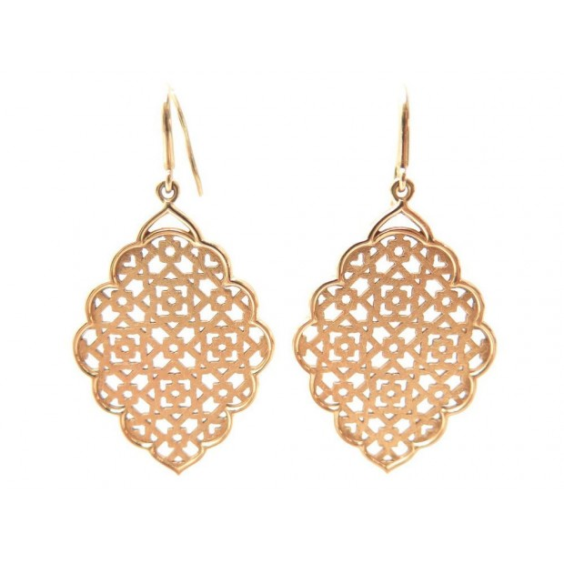 NEUF BOUCLES D'OREILLES TIFFANY & CO PALOMA PICASSO DENTELLES OR 15 GR EARRINGS