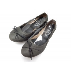 CHAUSSURES TOD S BALLERINES 36.5 IT 37.5 FR VEAU VELOURS BALLET FLAT SHOES 335€
