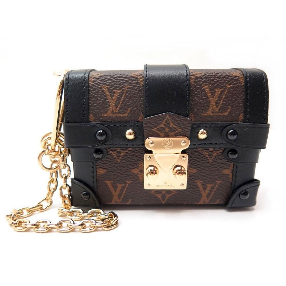 7d06349604 NEUF PORTEFEUILLE LOUIS VUITTON ESSENTIAL TRUNK MONOGRAM PETITE MALLE.  Loading zoom