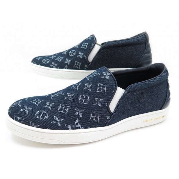 NEUF CHAUSSURES LOUIS VUITTON FRONTROW SLIP-ON 37.5 TOILE MONOGRAM SNEAKERS 550€