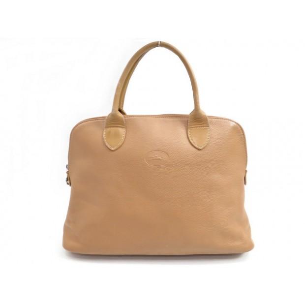 403bda0a3dce0 sac a main longchamp en cuir graine beige porte main