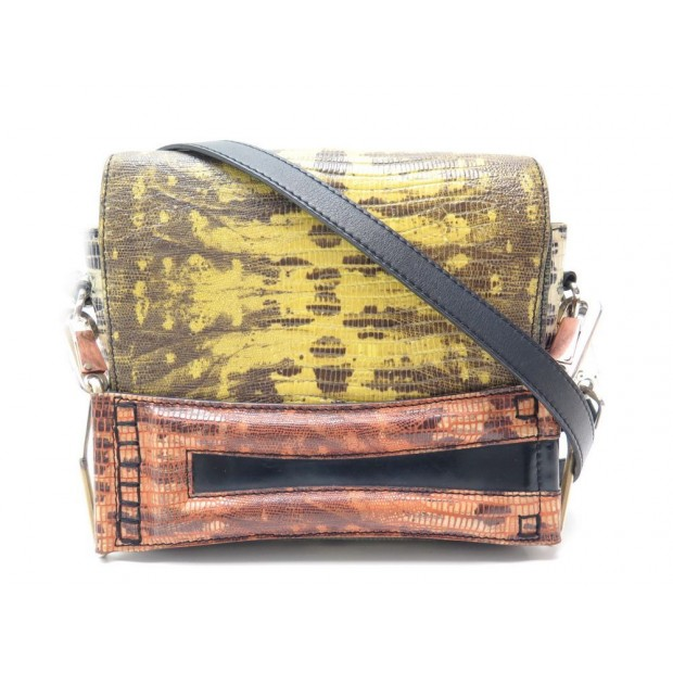 SAC A MAIN KENZO BANDOULIERE CUIR FACON LEZARD LIZARD EMBOSSED LEATHER BAG 860€
