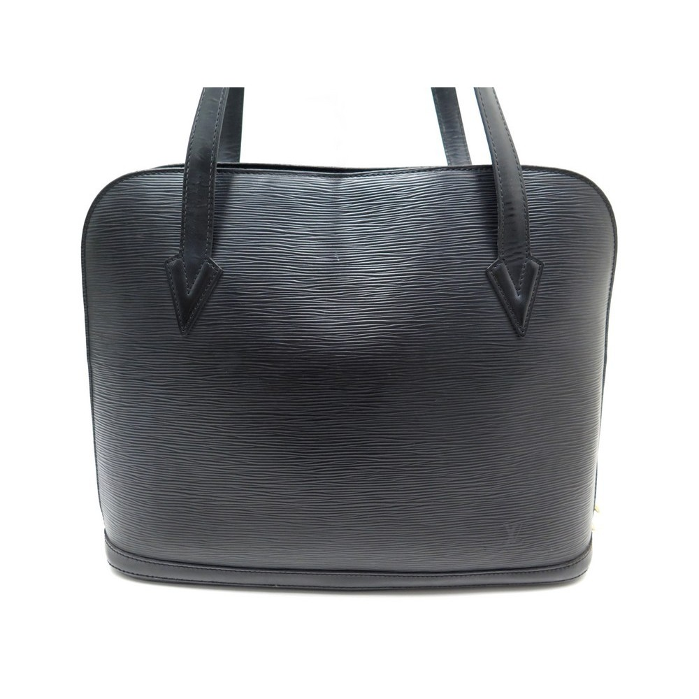 07c9902673 sac a main louis vuitton lussac en cuir epi noir black
