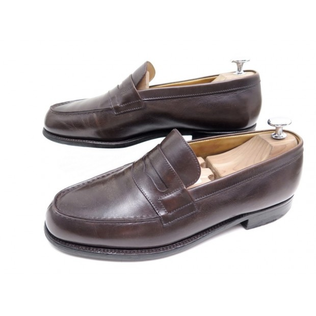 CHAUSSURES JM WESTON MOCASSINS 180 6.5D 41 EN CUIR MARRON BROWN SHOES 590€