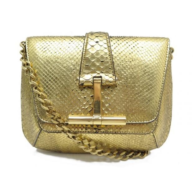 b9009ac381f96 sac a main tom ford bandouliere cuir de python dore