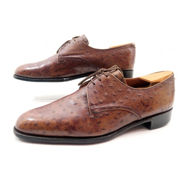 CHAUSSURES CHEANEY BY CHURCH'S LONGLEAT DERBY 9 43 CUIR D'AUTRUCHE EMBAUCHOIRS