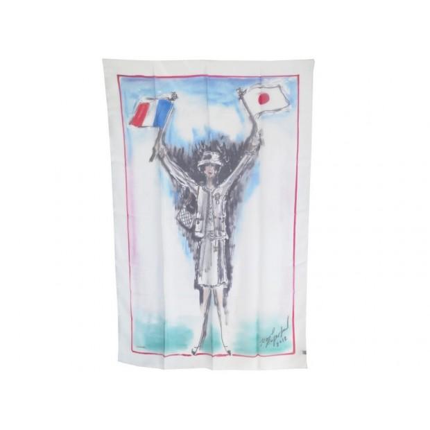 NEUF ETOLE CHANEL COCO FRANCE JAPON JAPAN FOULARD MOUSSELINE DE SOIE SCARF 620€