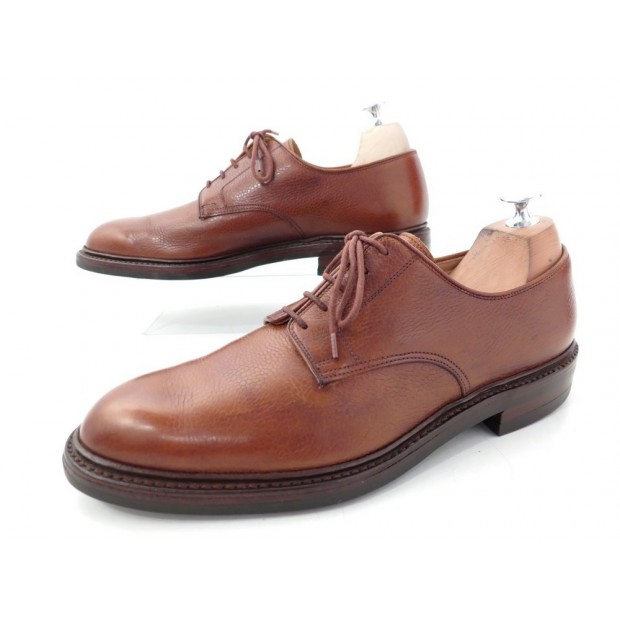NEUF CHAUSSURES CROCKETT & JONES GRASMERE DERBY 8.5E 42.5 VEAU GRAINE SHOES 499€