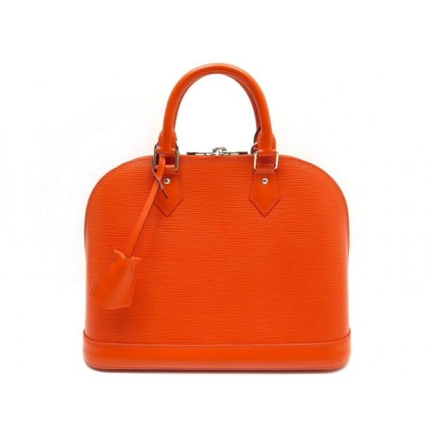 NEUF SAC A MAIN LOUIS VUITTON ALMA PM EN CUIR EPI ORANGE + BOITE HAND BAG 1550€