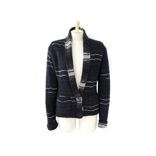 NEUF GILET CHANEL CARDIGAN RUSSE 2009 P36148 42 L 40 M LAINE MOHAIR PULL 2990€