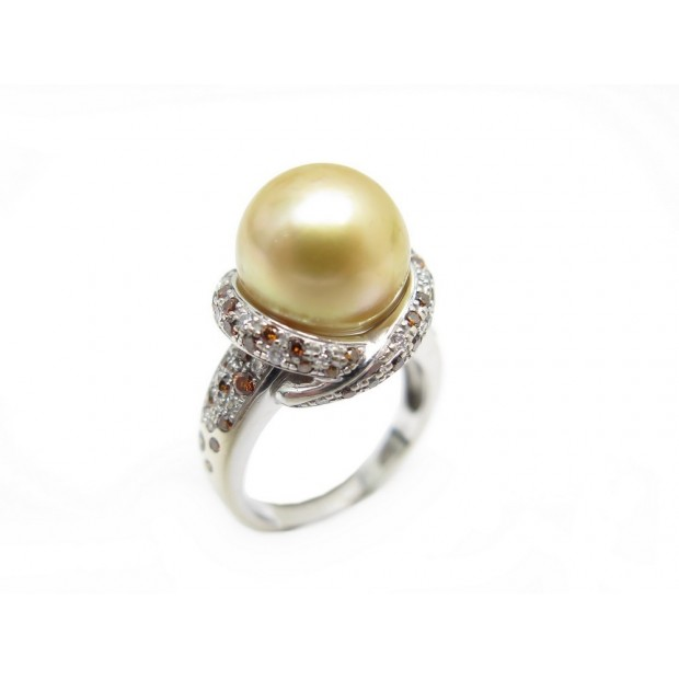 BAGUE MAUBOUSSIN PERLE D'OR MON AMOUR T 51 DIAMANTS 0.7 CT OR BLANC 7.6 GR 4080€