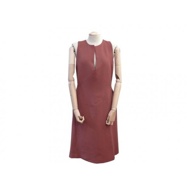 ROBE MI LONGUE BOTTEGA VENETA 44 IT 40 FR M EN LAINE VIEUX ROSE DRESS 1850€