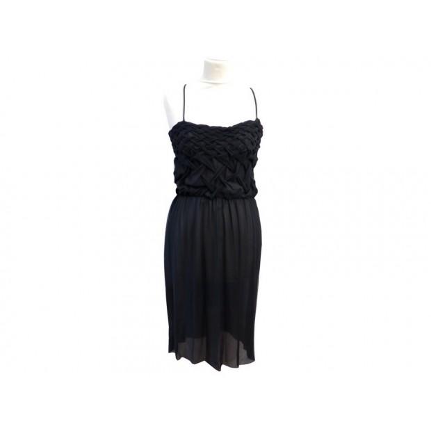 ROBE MI LONGUE BOTTEGA VENETA 44 IT 40 FR M NOIR DE SOIREE COCKTAIL DRESS 1860€