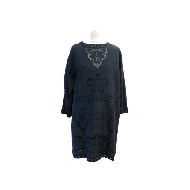 NEUF ROBE VALENTINO DENTELLE 42 IT 38 FR M EN SOIE NOIR BLACK SILK DRESS 1490€