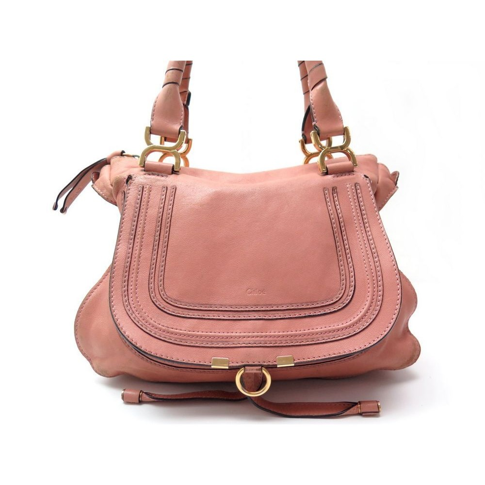 sac a main chloe marcie medium en cuir rose pink 7817e3d7f7e