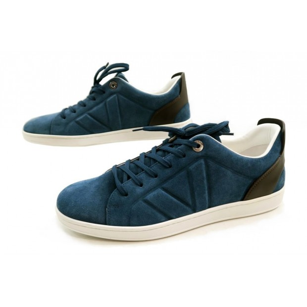 NEUF CHAUSSURES LOUIS VUITTON FUSELAGE SNEAKERS 7.5 42 BASKETS EN DAIM SHOE 625€