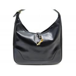 VINTAGE SAC A MAIN HERMES TRIM 30 CUIR NOIR BLACK HAND BAG LEATHER PURSE 3700€