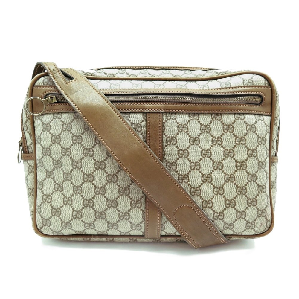 8d93eb72dd VINTAGE SAC A MAIN GUCCI BESACE TOILE MONOGRAMME CUIR BEIGE MESSENGER PURSE  890€. Loading zoom
