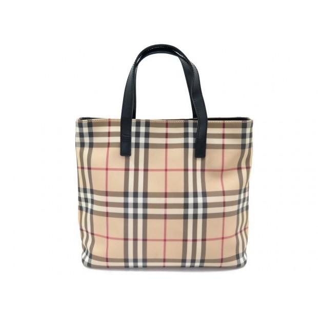 sac a main burberry motif tartan check cabas en toile a3c7dc9ef89