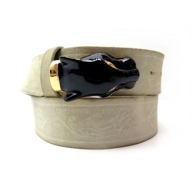 gamme exceptionnelle de styles Super remise artisanat exquis ceinture roberto cavalli panthere t 88 m daim veau