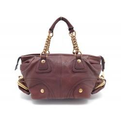 SAC A MAIN DOLCE & GABBANA CABAS EN CUIR GRAINE MARRON HAND BAG PURSE 1000€