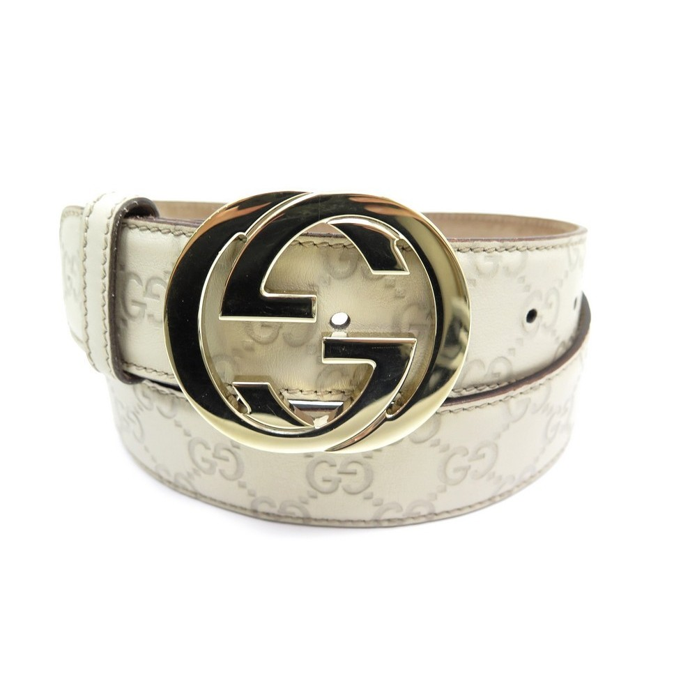 NEUF CEINTURE GUCCI LOGO GG 114876 TAILLE 90. Loading zoom 547b034a13b