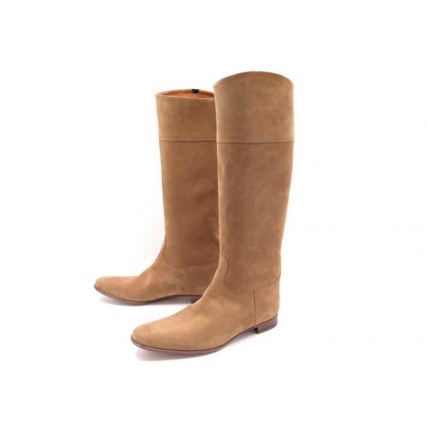 99d9a976ab7 chaussures hermes 40.5 bottes daim veau velours camel