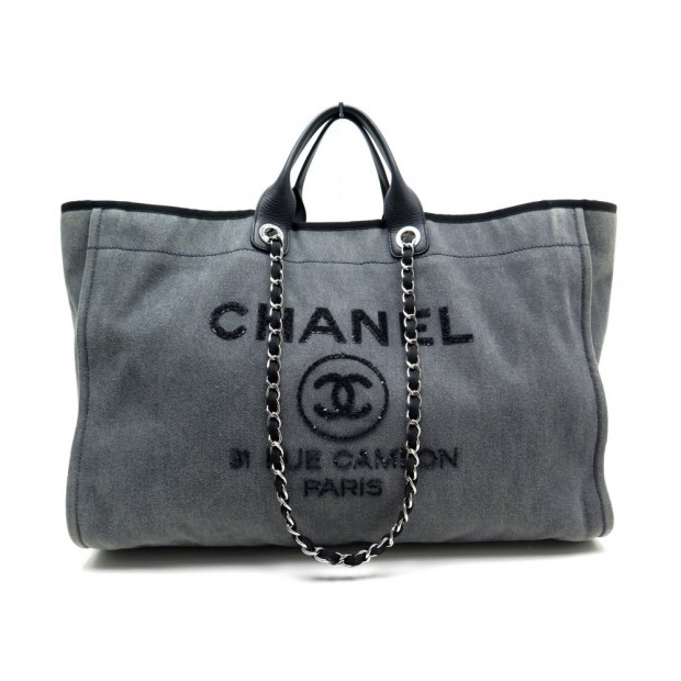 sac a main chanel deauville shopping xl 50 cm cabas e4a3cb46594